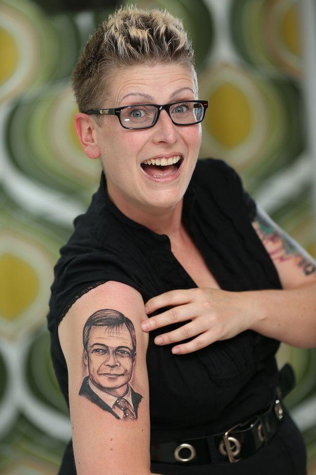 Kerrie Webb Nigel Farrage Tattoo