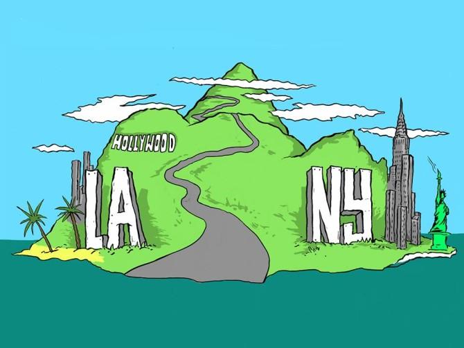 LA NY Longboarding