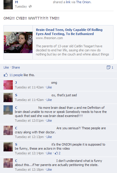 People Thinking The Onion Is Real On Facebook 26