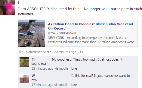 People Thinking The Onion Is Real On Facebook 33