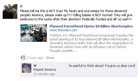People Thinking The Onion Is Real On Facebook 7