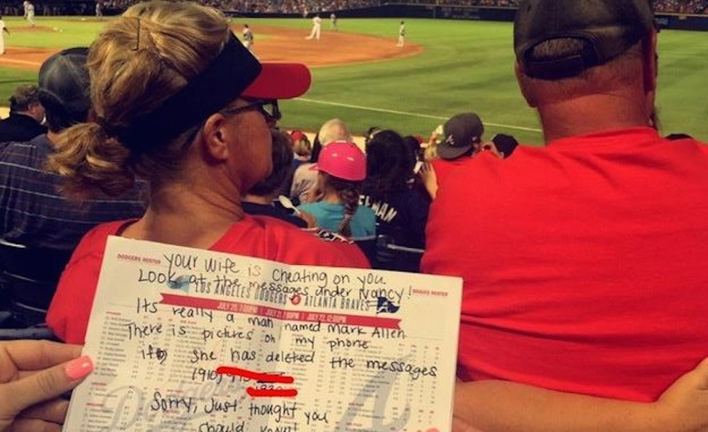 Cheaters Expose Wife Baseball Game
