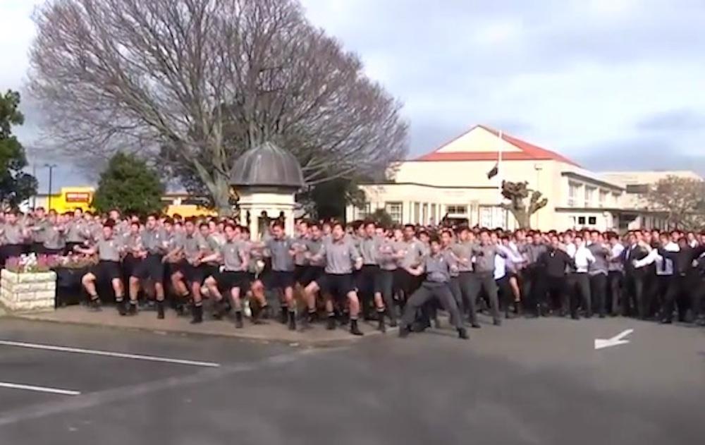 Haka Tribute NEw Zealand School