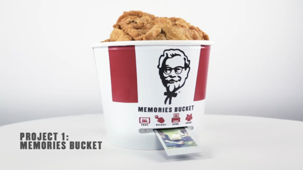KFC BUcket Polaroid Printer