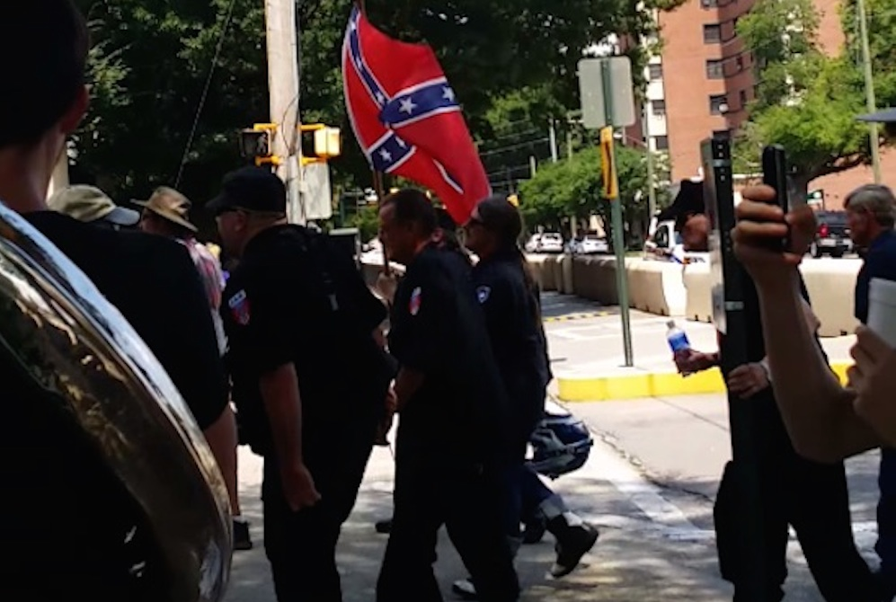 KKK Marchers Trolled Tuba Player