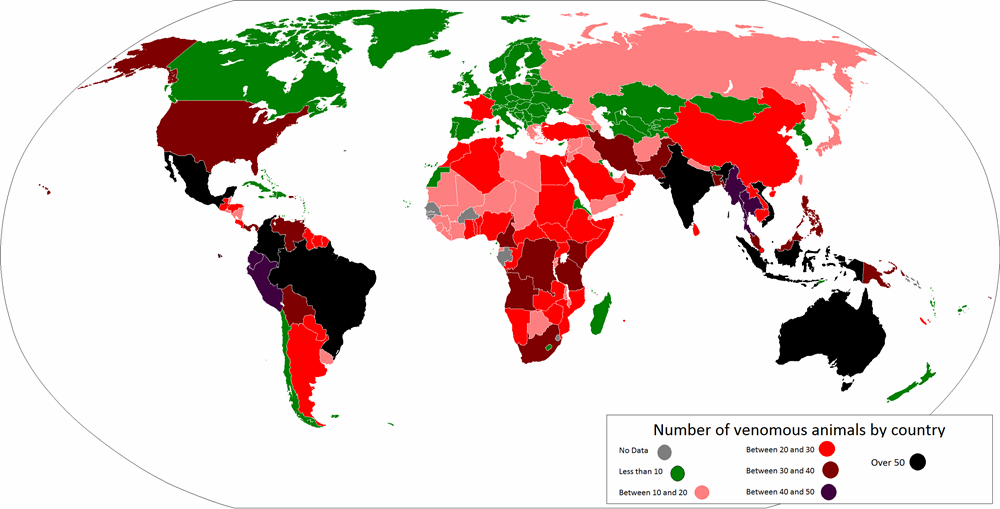 Poisonous Animals Map