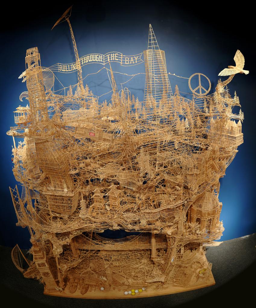 Scott Weavers - Toothpick Sculpture 1