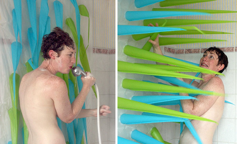 Spiky Shower Curtain