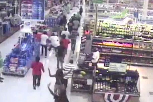 50 Gang Members Try To Destroy Walmart Store, Only End Up