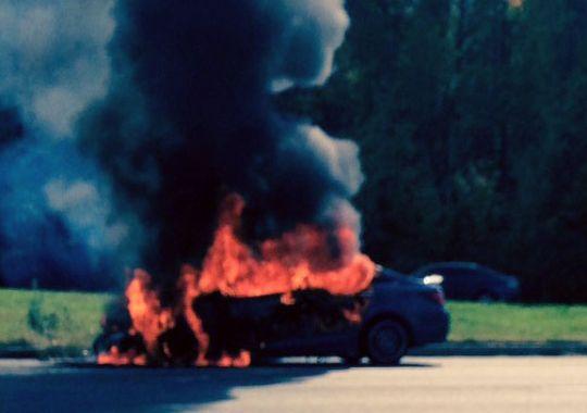 Blue Car Fire