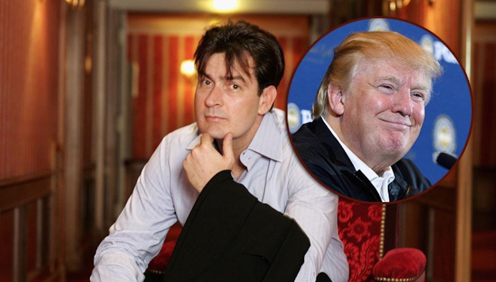 Charlie Sheen Donald Trump