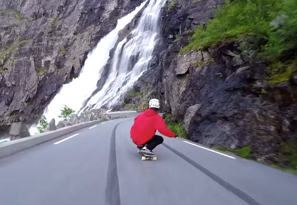 Downhill Skate Run Norwegian Mountains