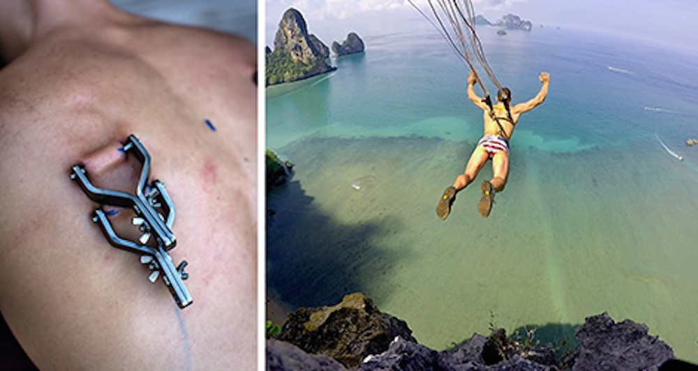 Josh Miramant Hooks Back Parachute