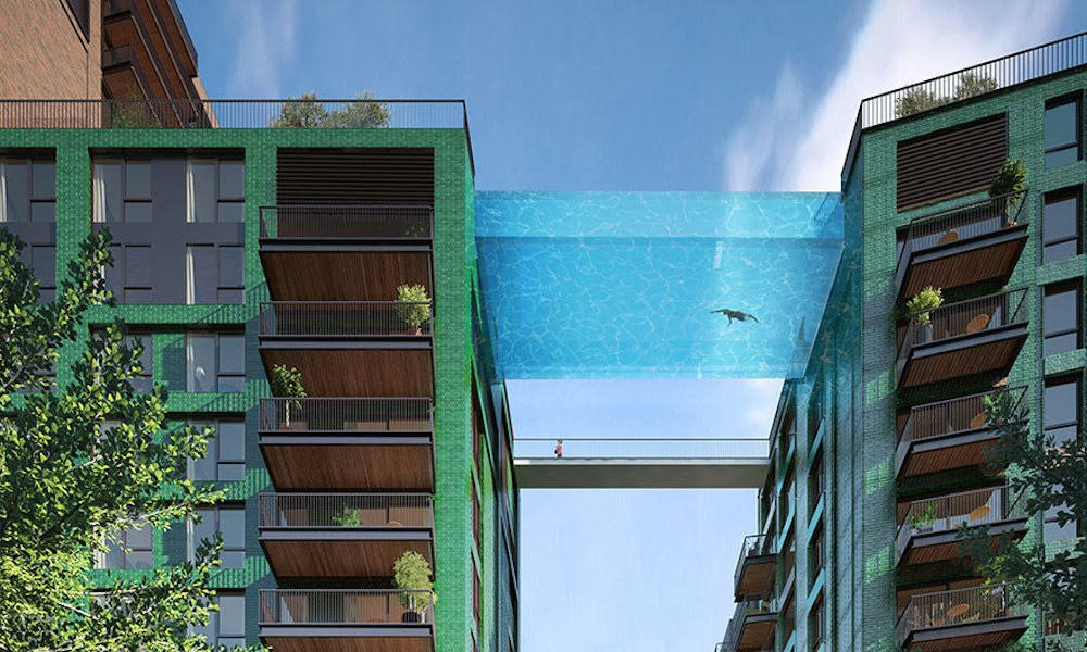 World's First Glass Swimming Pool