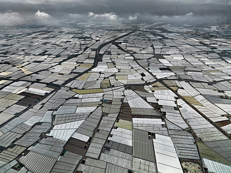 Almeria Hothouse Immigrants - Aerial View