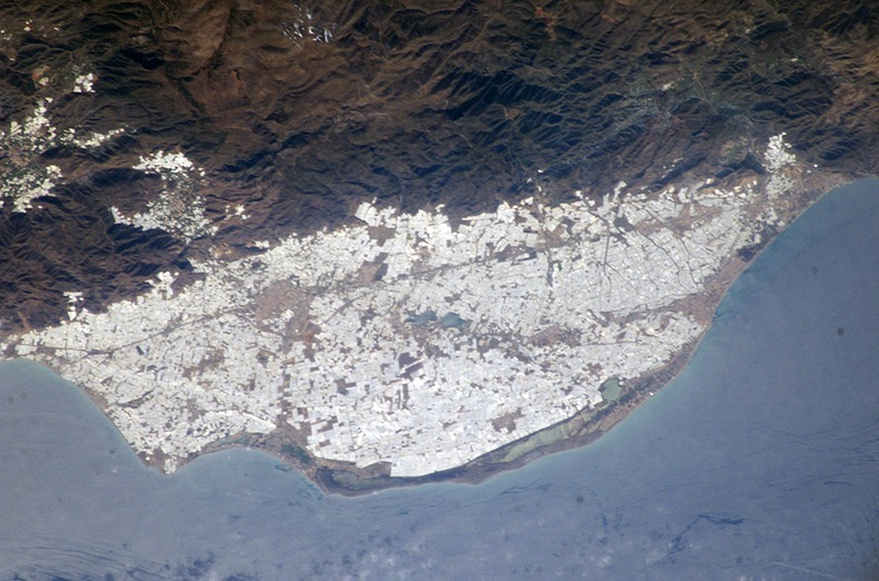 Almeria Hothouse Immigrants - From Space