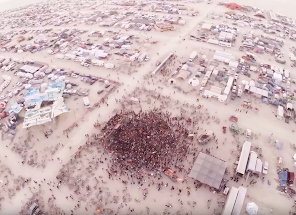 Burning Man Drone Fall