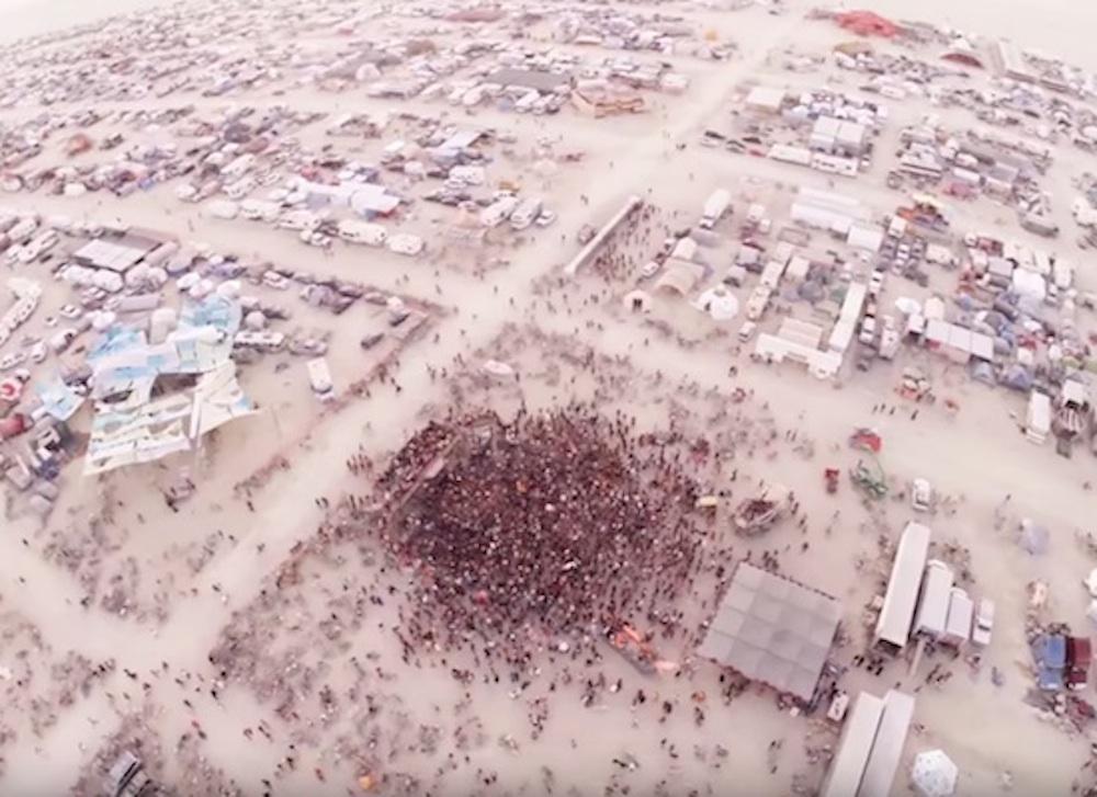 Burning Man Drone Fall