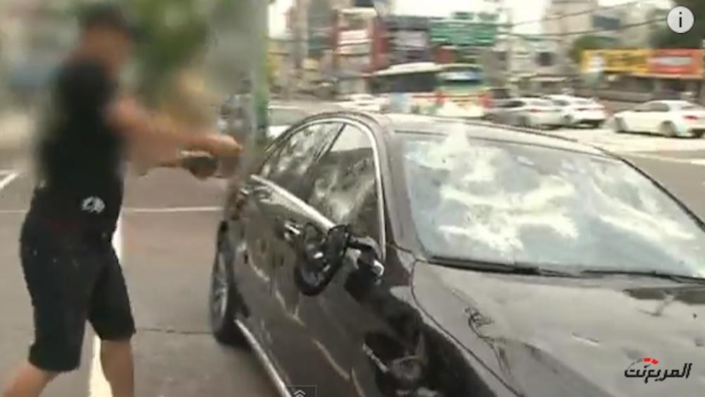 Businessman Smashes Up Mercedes
