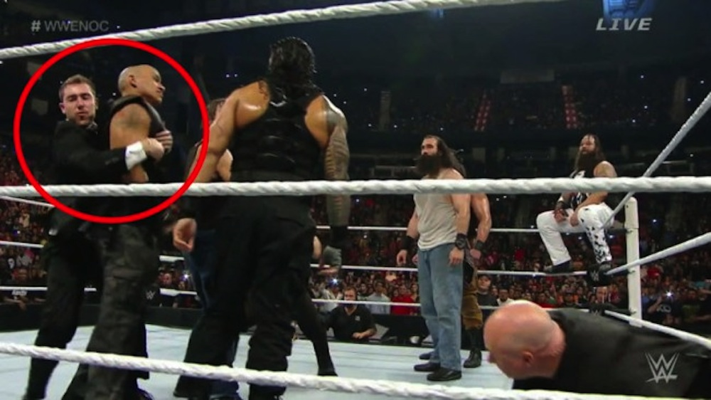 Watch A Fan Jump Into The Ring To Try And Be Roman Reigns