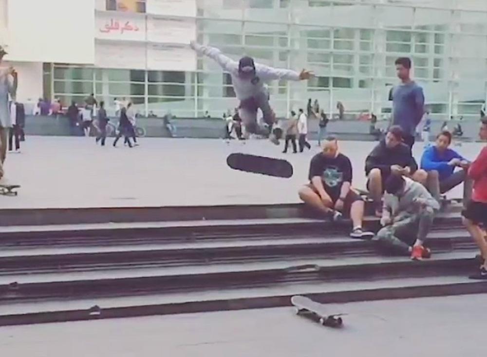 Gnarliest Skate Trick