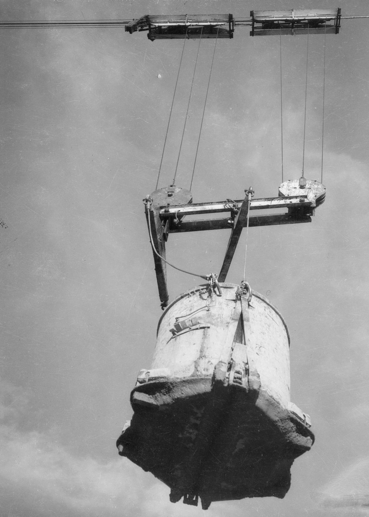 1934 --- Concrete conveyance dw-1934-412-08-67~37 --- Image by © Dick Whittington Studio/Corbis