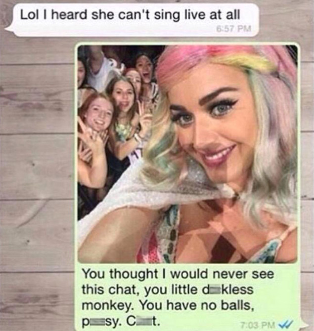Katy Perry Whatsapp