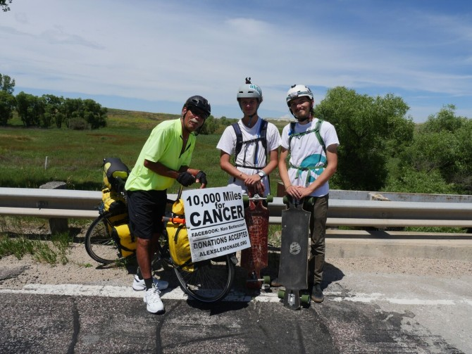 Longboarders Meet Cancer Cyclist