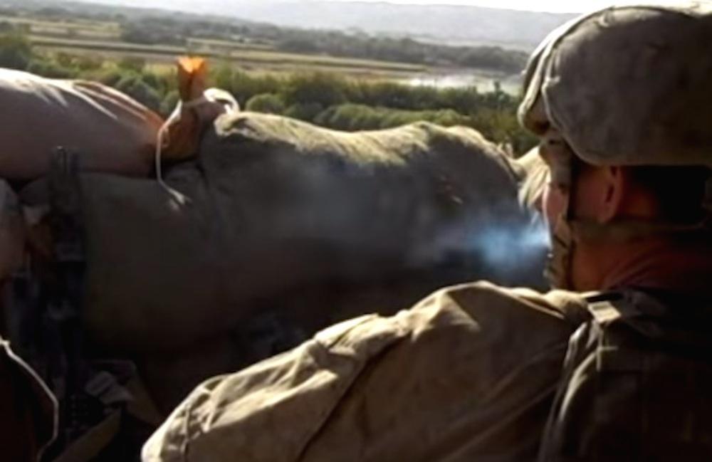 Marines Smoke Break