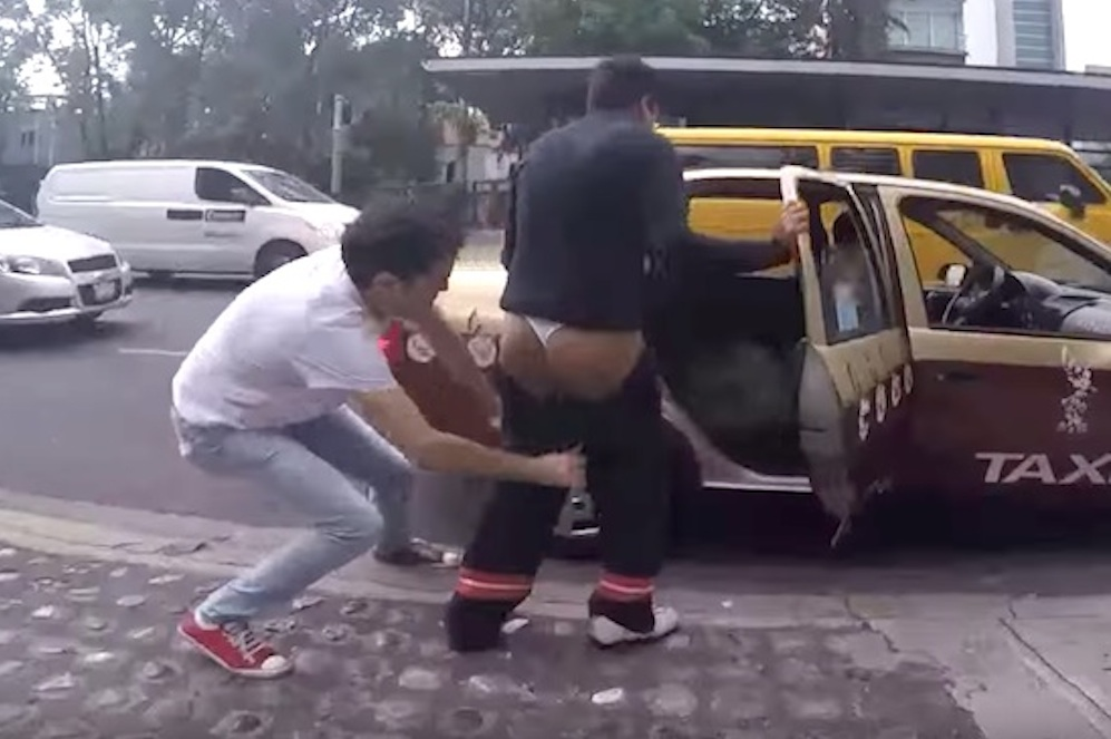 Mexican Pranksters Rubbing Shit