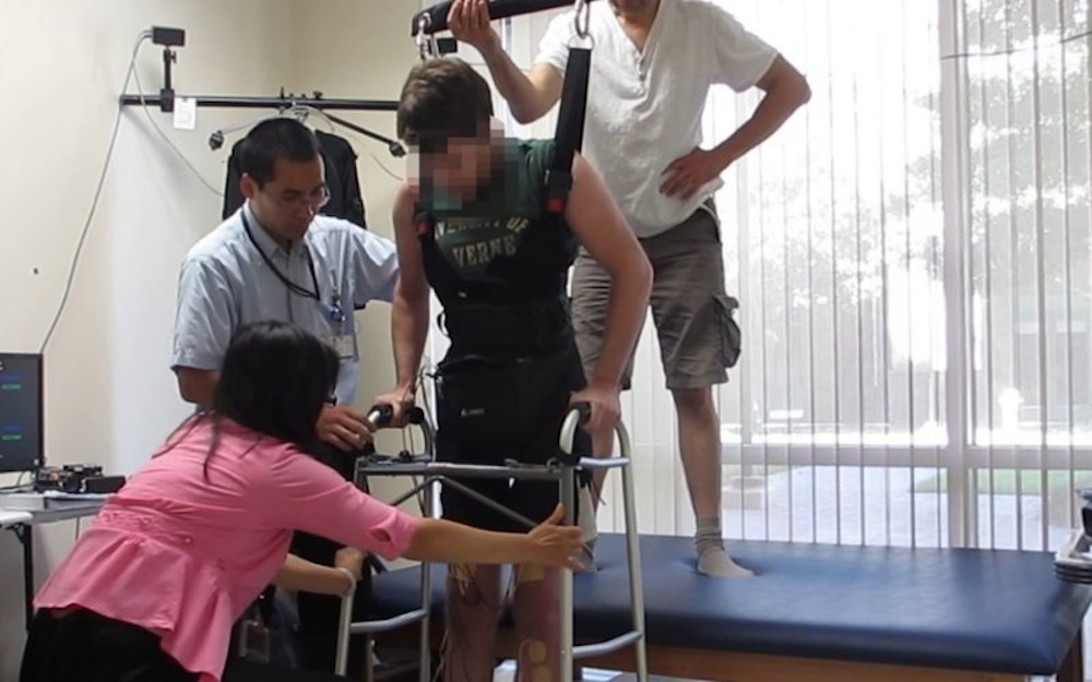 Paraplegic Man Walks Again Electrodes