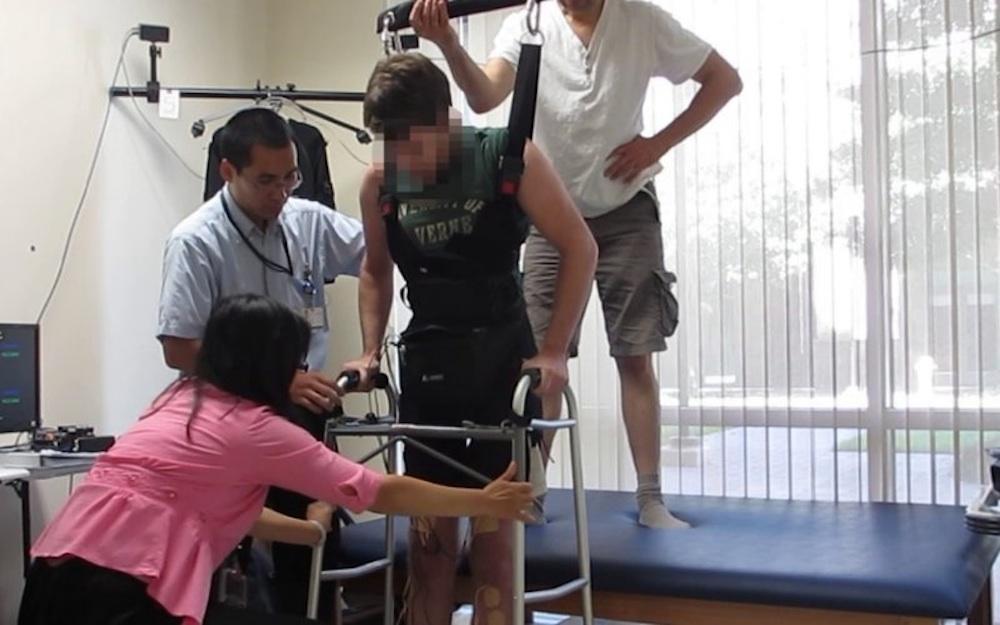 Paraplegic Man Walks Again Electrodes