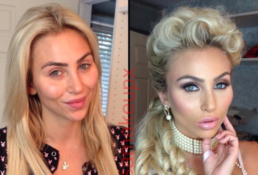 Porn Stars Before And After Makeup Featured