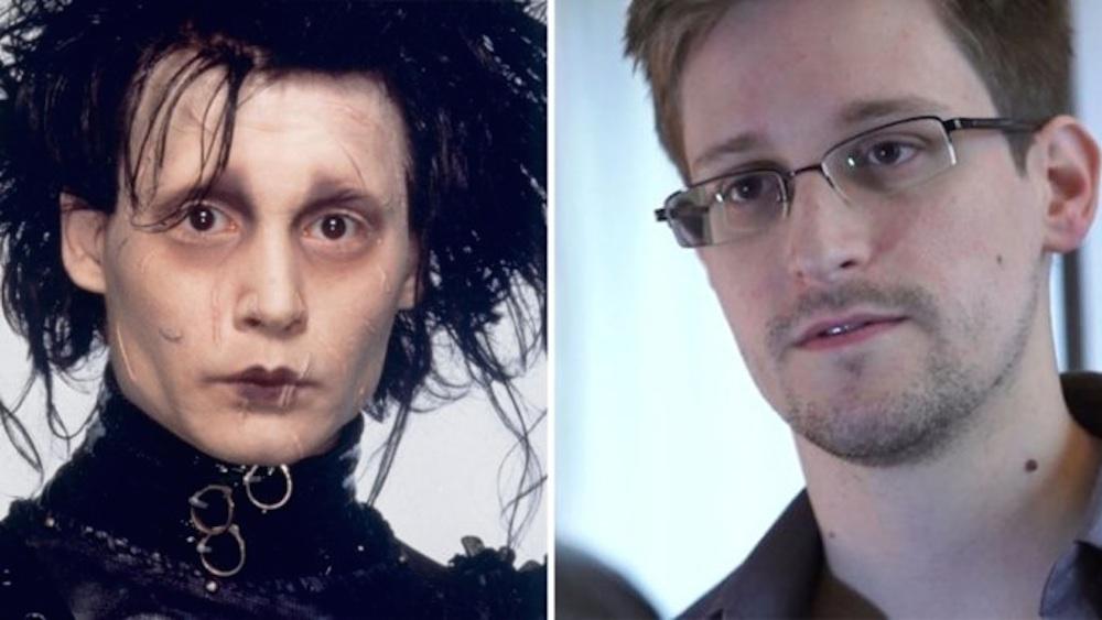 Edward Snowden Edward Scissorhands