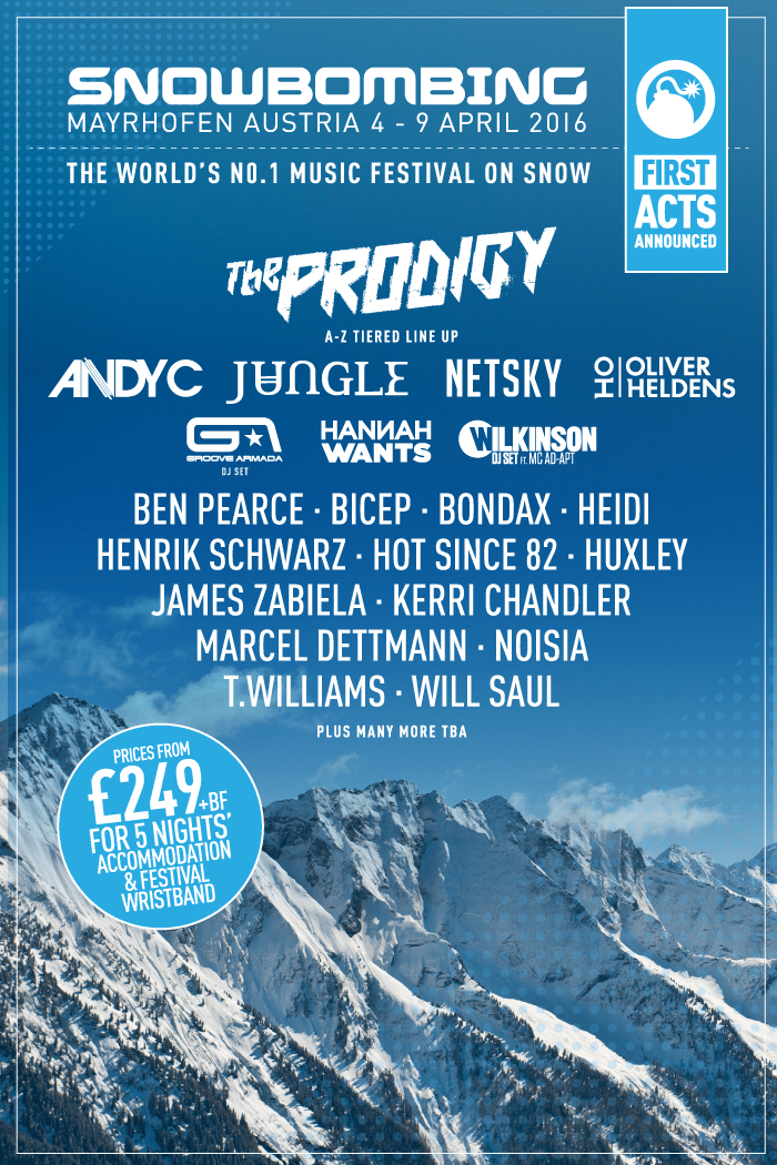 Snowbombing Line Up Released 2016