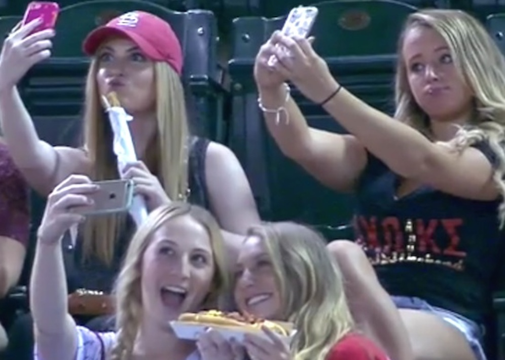 Sorority Girls Selfie Baseball Game