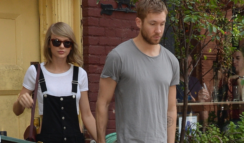 Taylor Swift and Calvin Harris leave Spotted Pig in SoHo