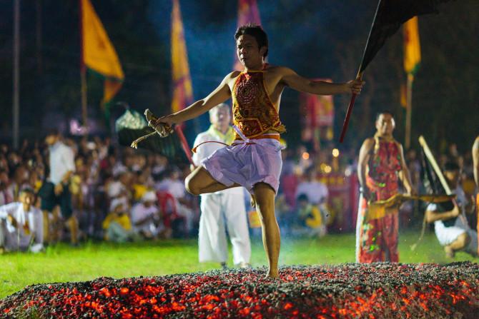 Fire Walking Ritual performed at Phuket Vegetarian Festival