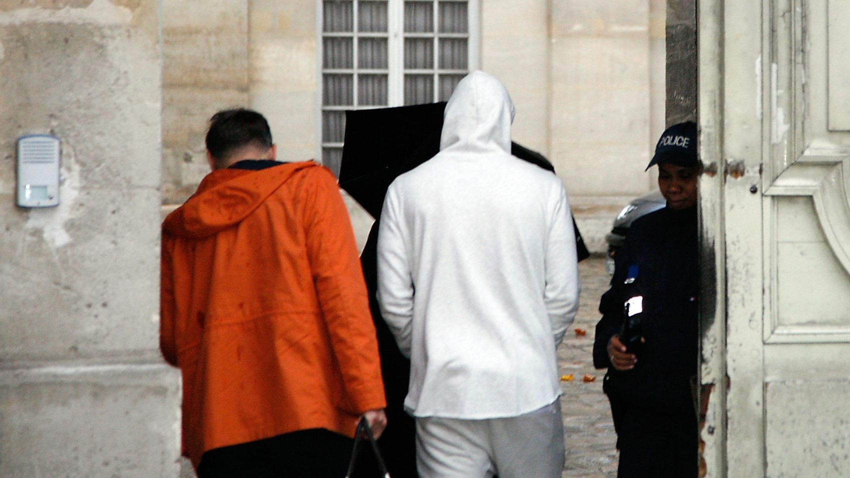 Benzema Leaving Courthouse
