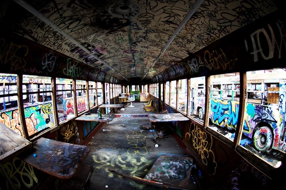 Bus Drivers Rule - Graffiti on Bus