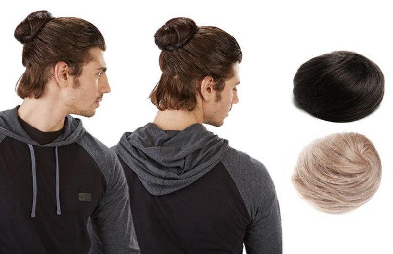 Clip On Man Bun 1