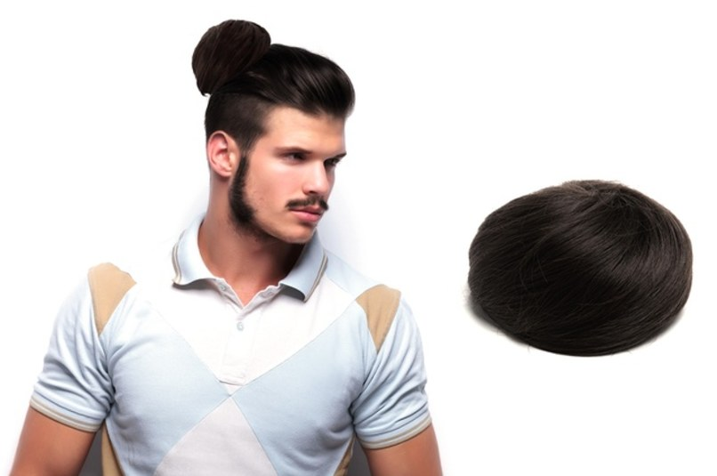 Clip On Man Bun 2