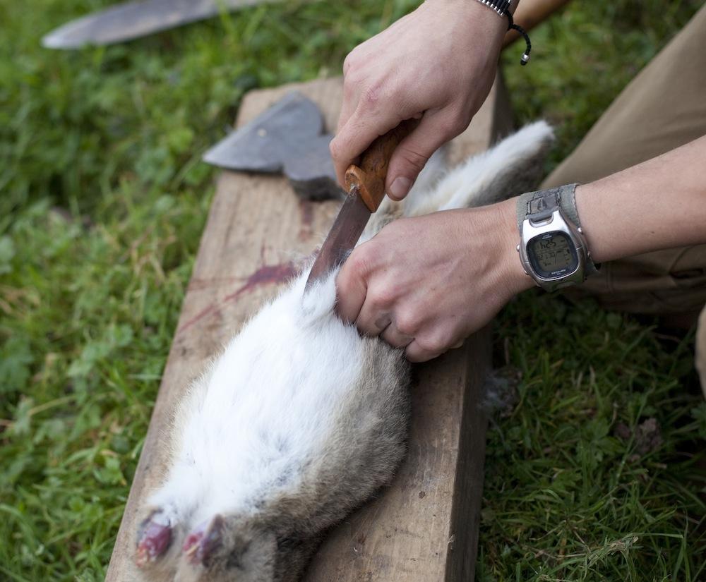 How To Skin And Gut A Rabbit - Slit