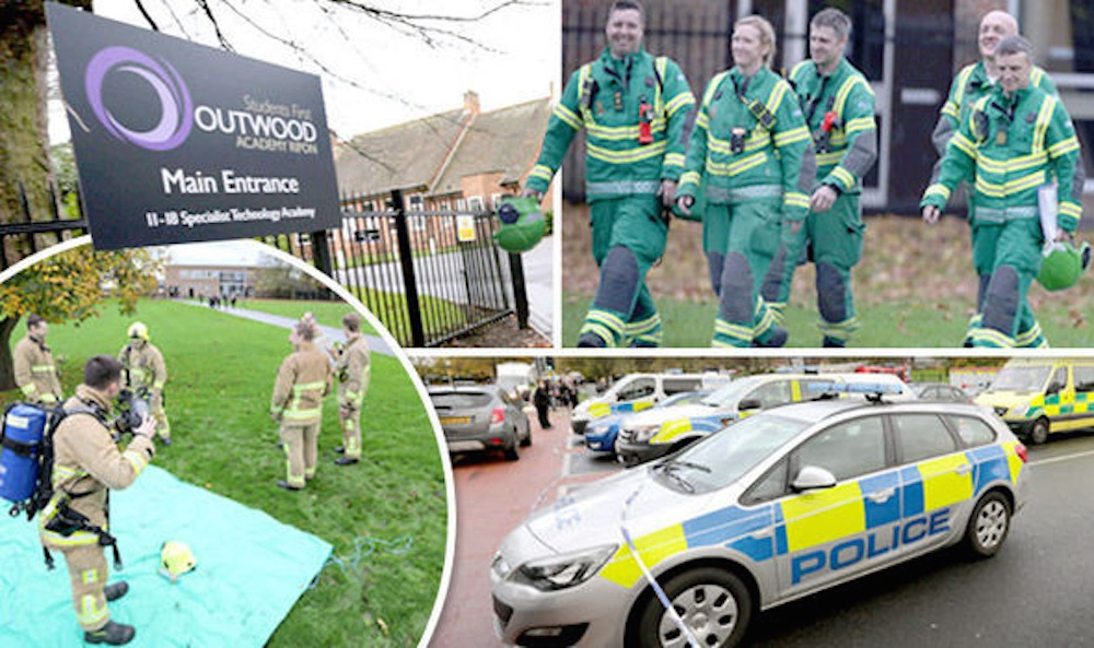 Outwood Academy Remembrance Day Collapse