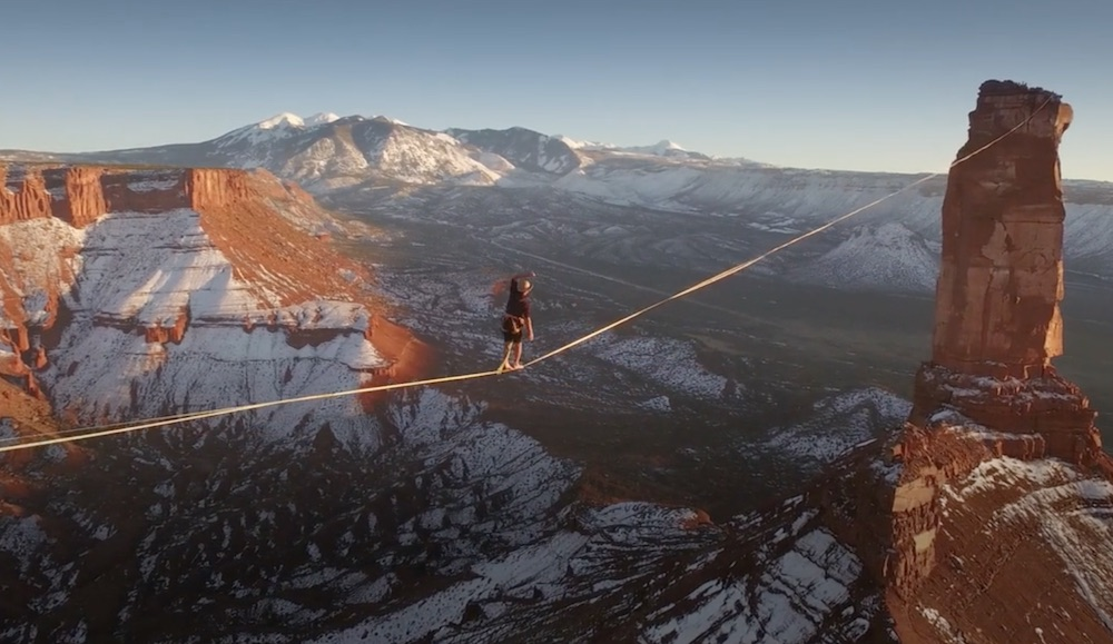 Theo Sanson Slackline World Record