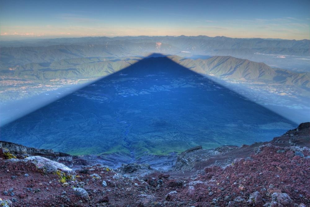 Without Photoshop - Shadow of Mount Fujiyama, Japan