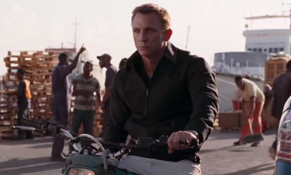 James Bond On Bike