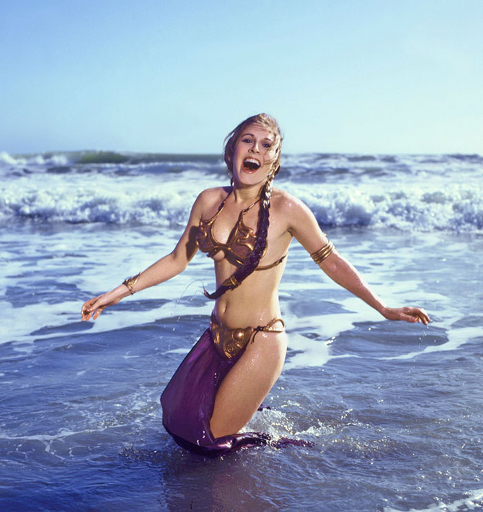 Carrie Fisher Metal Bikini 1