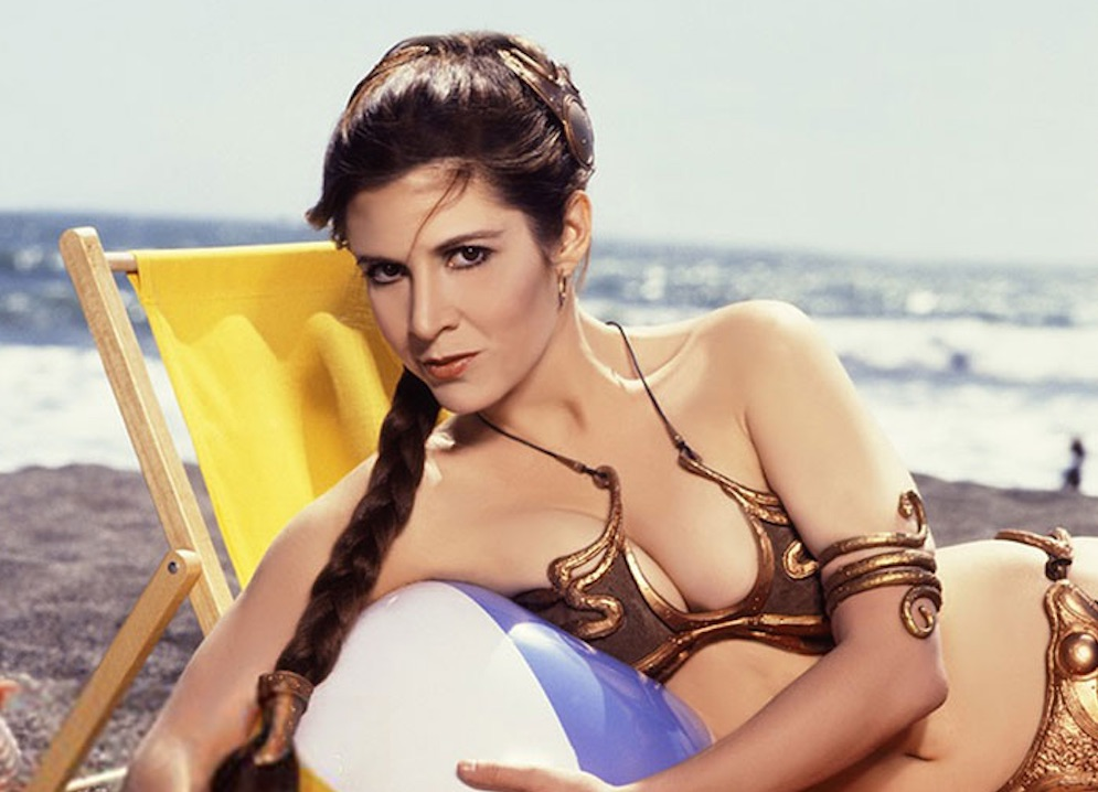 Carrie Fisher Metal bikini Featured