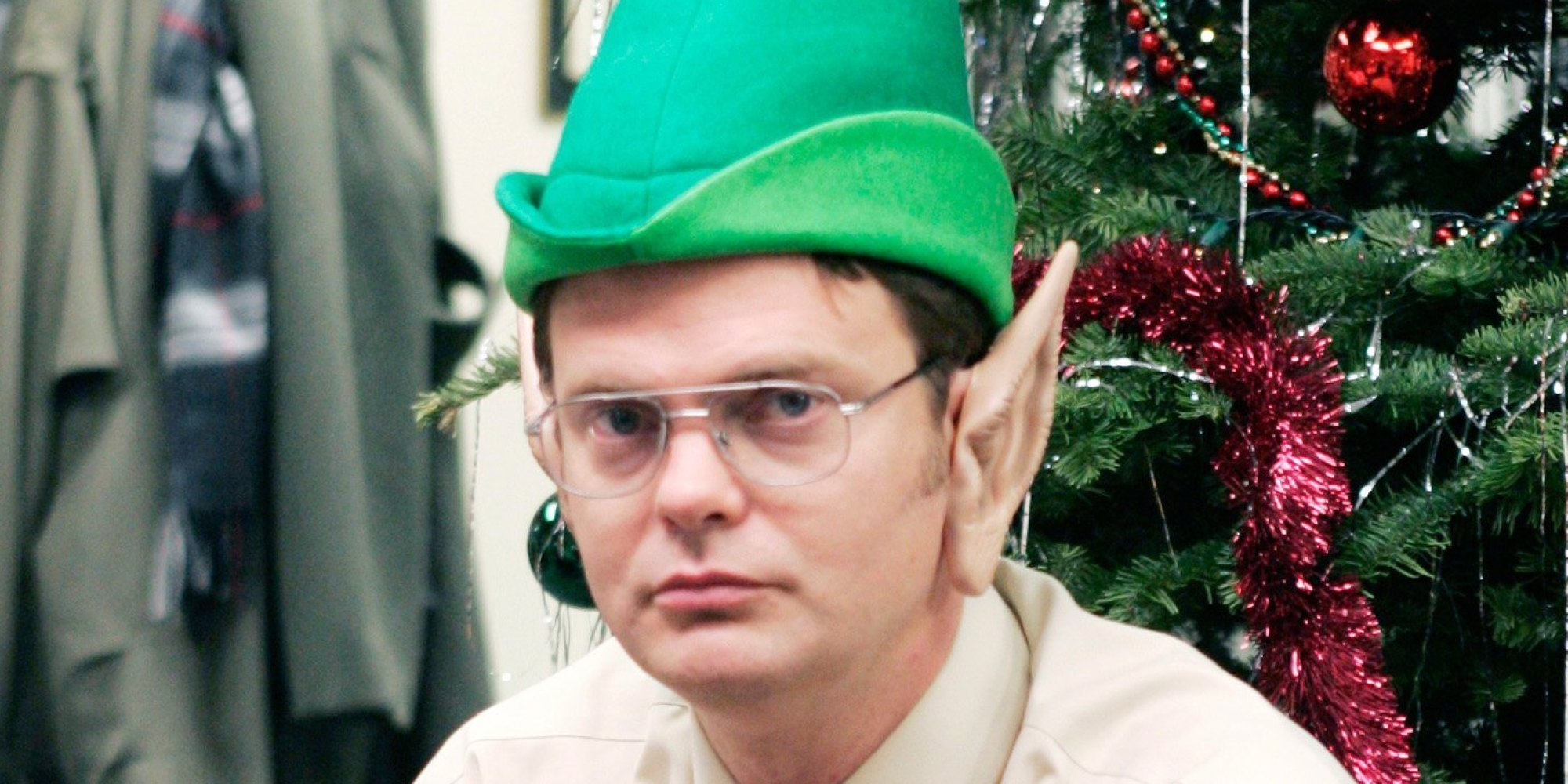 """THE OFFICE -- """"The Christmas Party"""" Episode 10 -- Aired 12/06/2005 -- Pictured: Rainn Wilson as Dwight Schrute -- Photo by: Paul Drinkwater/NBCU Photo Bank"""